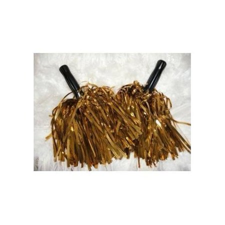 Pom Poms Cheerleading (Value pack: metallic gold cheerleader pom poms - cheerleading special!)