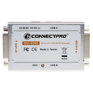Connectpro DVI-EDID-KITU1 Connectpro DVI-EDID-KITU1 Video Emulator - USB - 3840 x 2400 - DVI - USB - External