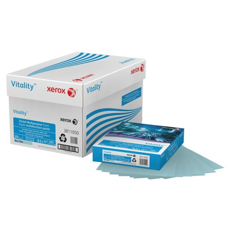Xerox Vitality Pastel Multipurpose Paper  8 1 2 X 11  Blue  500 Sheets Rm