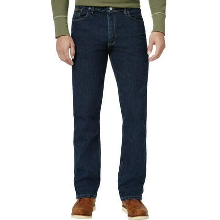 Wrangler Mens Denim Dark Wash Classic Straight Jeans