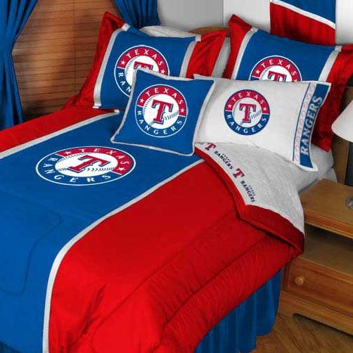 mlb texas rangers bedding set baseball bed twin - walmart