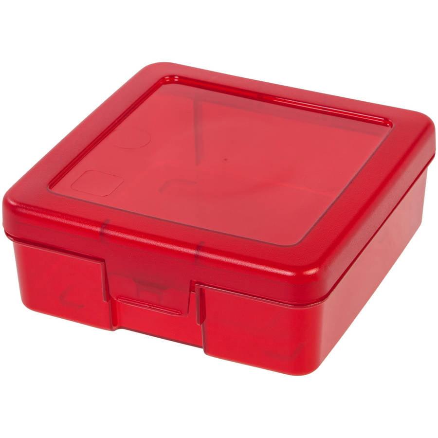 IRIS Small Plastic Storage Box Red Walmartcom