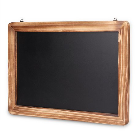 Wall Chalkboard Sign Rustic Wooden Framed - (10