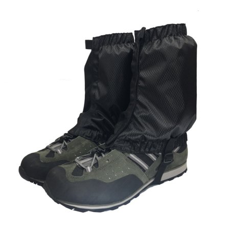 1 Pair Hiking Hunting Boot Gaiters Waterproof Snow Snake High Leg Durable Shoes Cover Black thumbnail
