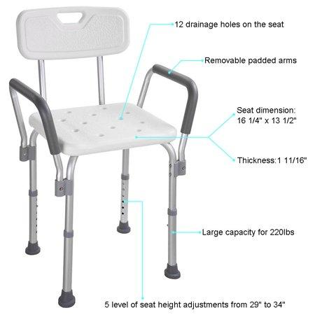 Medical Shower Seat Adjustable Height Bathtub Bench