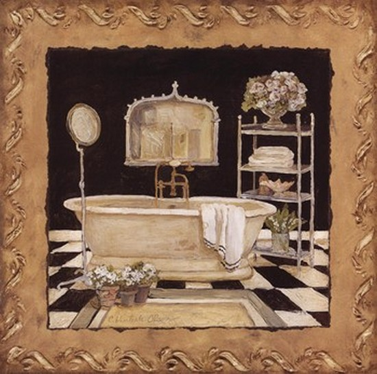 Maison Bath IV Poster Print by Charlene Winter Olson (12 x 12)