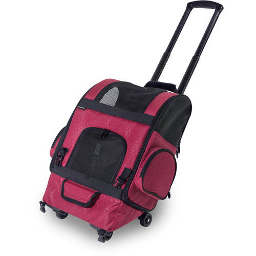 Gen7Pets RC2000-Roller Carrier Pet Carrier, Medium, Red Geometric