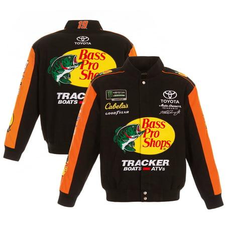 Martin Truex Jr JH Design Bass Pro Shops 2019 Full-Snap Twill Uniform Jacket - Black/Orange Bass Mens Parka