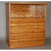 SMI M3648-5D Medium Oak Finish Bookshelf For Oak Plan File, 36 X 48 in.