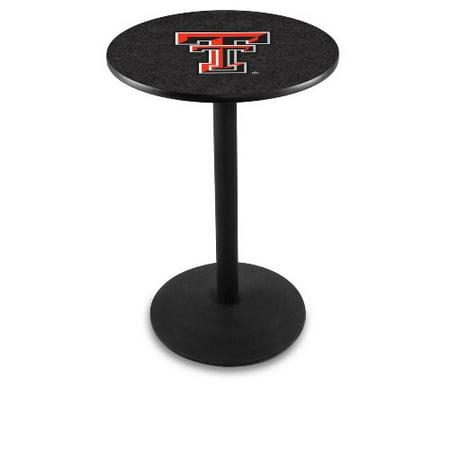 Texas Tech Pub Table - NCAA Pub Table by Holland Bar Stool, Black - Texas Tech, 36'' - L214
