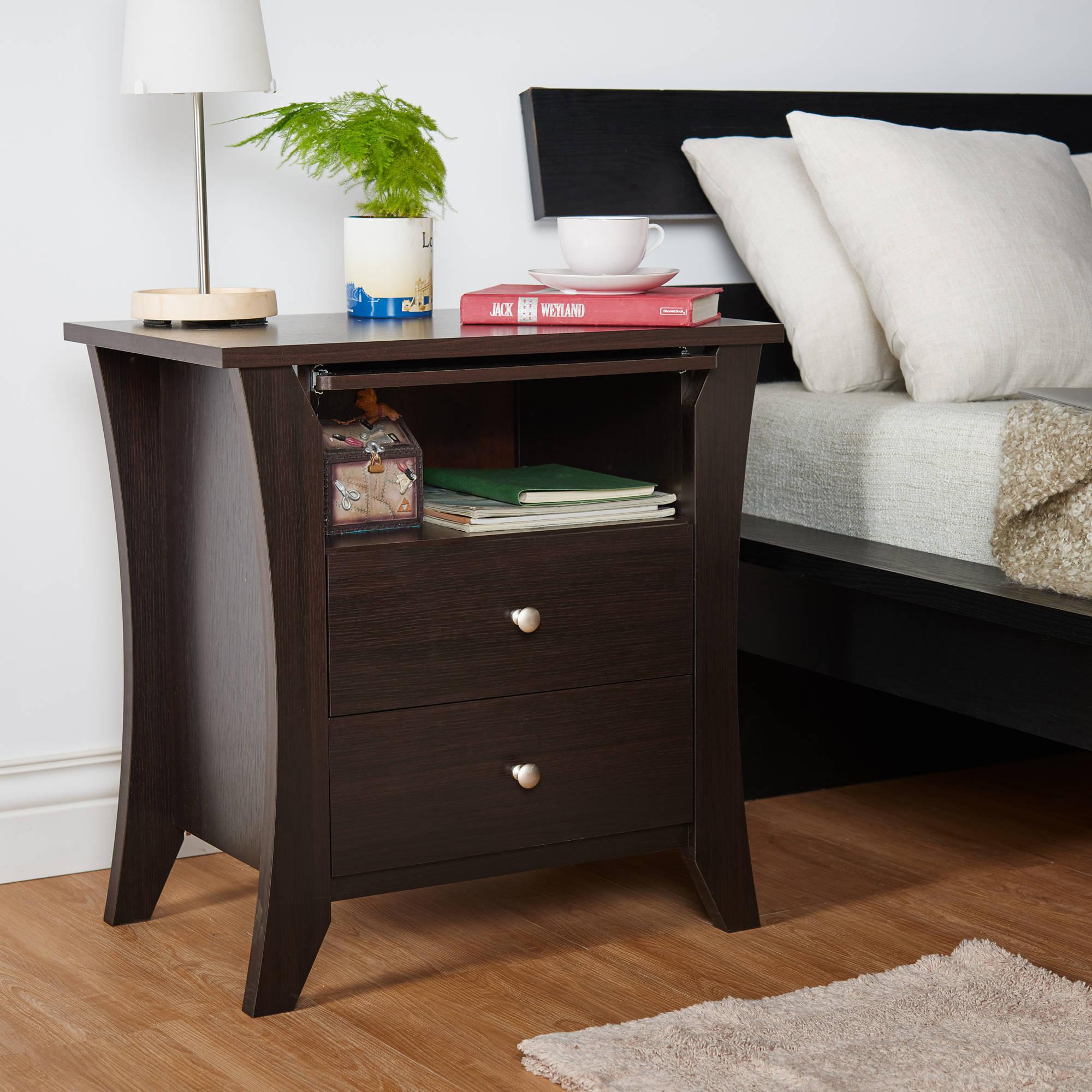Furniture of America Carlita 2-Drawer Nightstand, Espresso