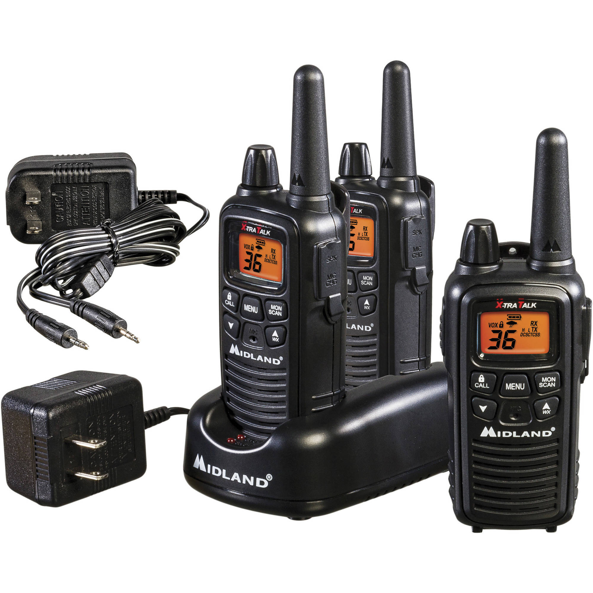 Midland LXT600 Extended-Range Walkie Talkies, 3-Pack