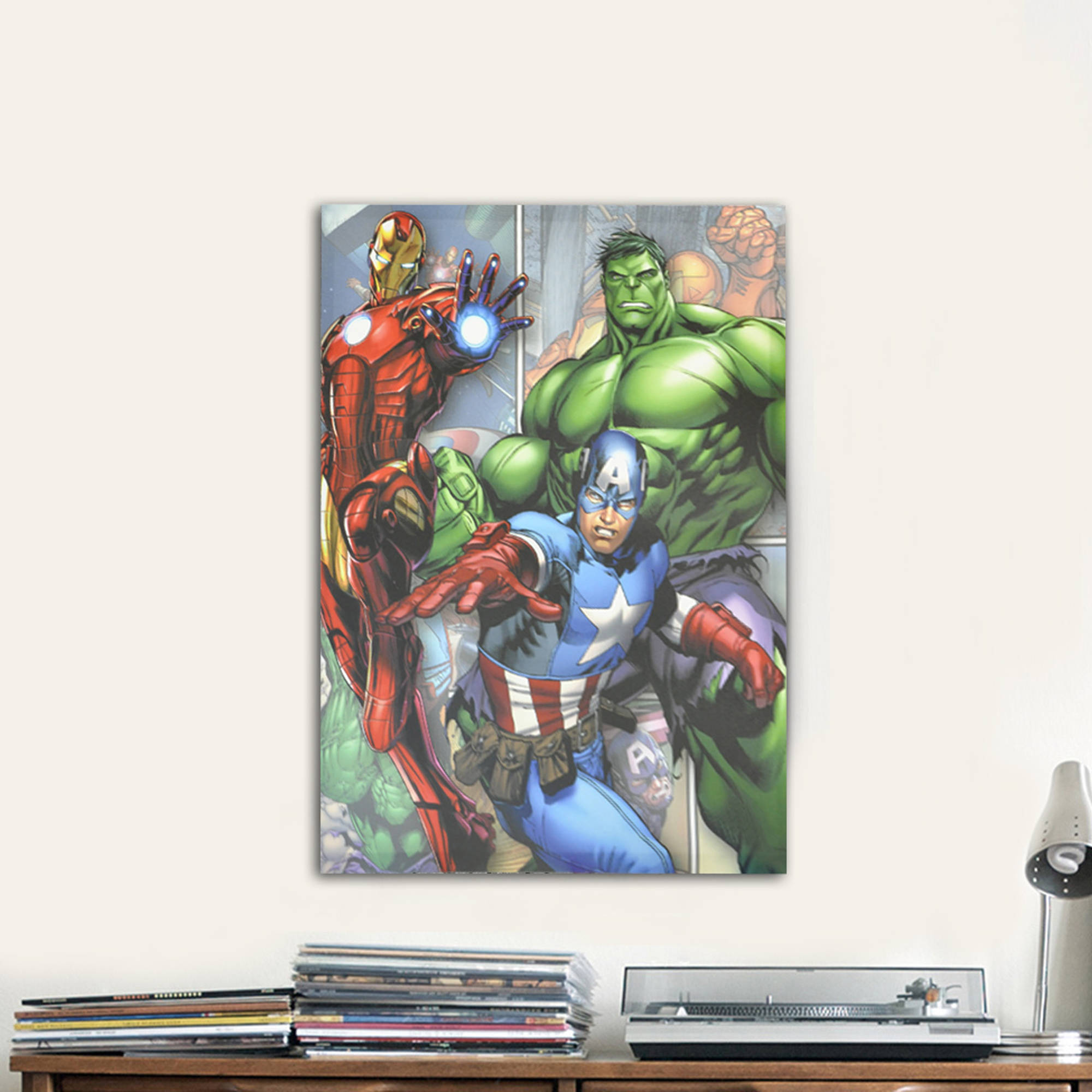 Marvel Wall Art marvel avengers canvas wall art - walmart