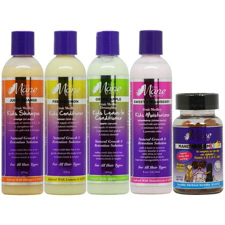 The Mane Choice Kids Hair Care 4 Piece Set Gummy Vitamins