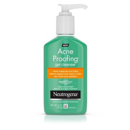 Essential Oils Gel Cleanser - Neutrogena Acne Proofing Salicylic Acid Facial Gel Cleanser, 6 oz