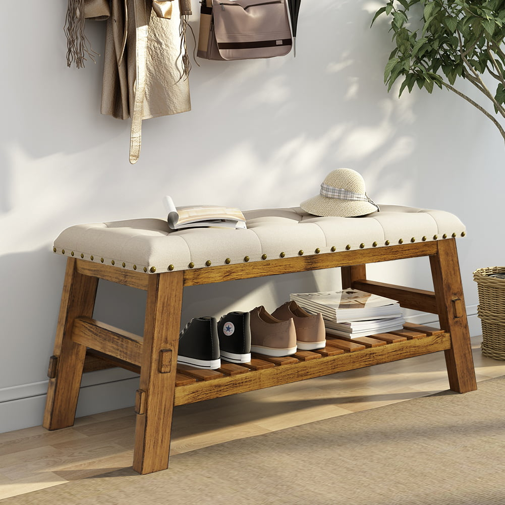 "40"" Entryway Storage Bench, Tribesigns Shoe Bed Bench With"
