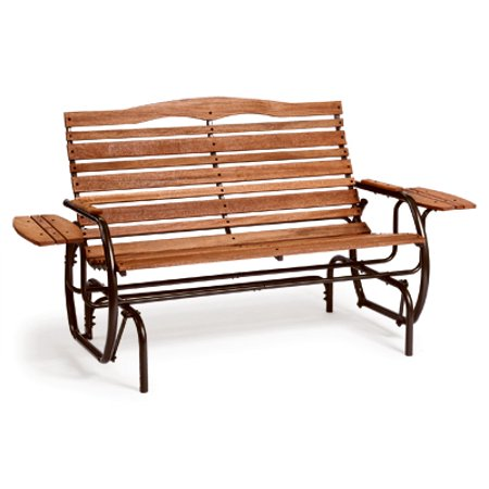 Country Style Rocker - jack post country garden hi-back glider with tray
