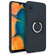 ZIZO REVOLVE Series for Samsung Galaxy A10e Case with Built-in Ring Holder, Kickstand, Ultra Thin Design Magnetic Mount Compatible (Charcoal Blue)