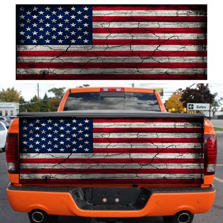 Car Sticker American Flag Tailgate Wrap Vinyl Graphic Decal for Truck 167*58cm
