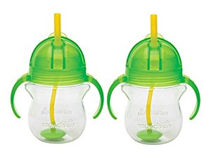 Munchkin Click Lock 7 Ounce Weighted Flexi-Straw Cup, 2 Pack, Green by Munchkin