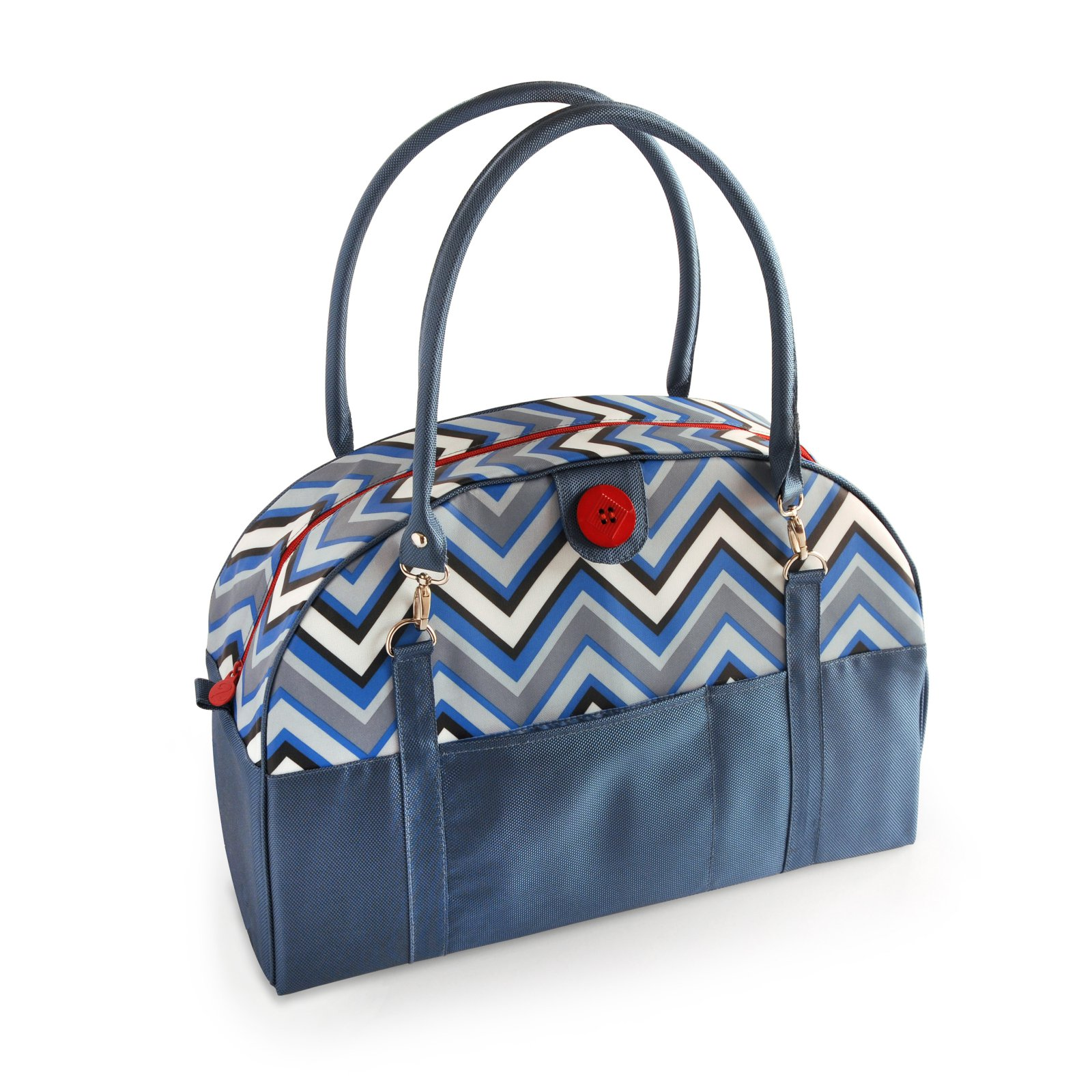 2 Red Hens Coop Carry-All Diaper Bag - Chevron Stripes