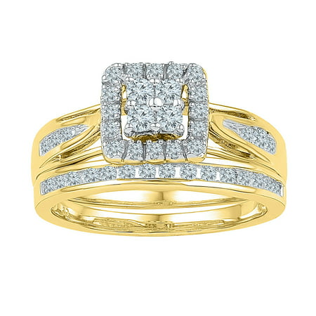 1/2Ctw Diamond Fashion Bridal Set Yellow-Gold 10K