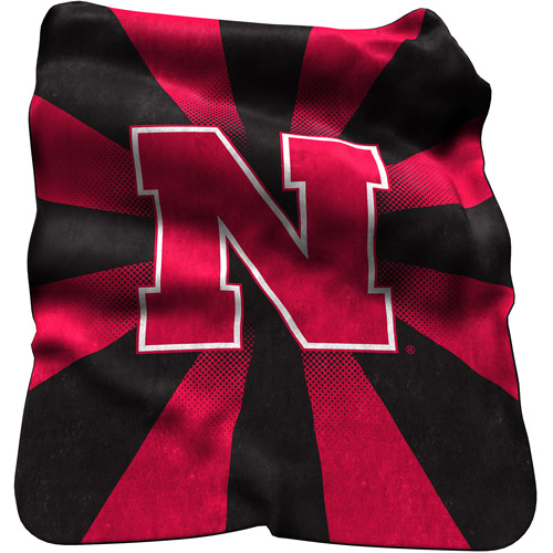 Logo Chair NCAA Nebraska Raschel Throw