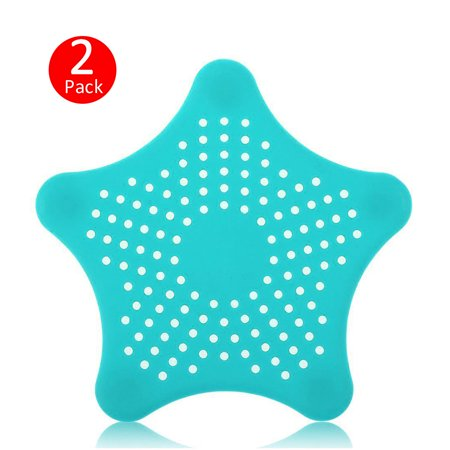 Silicone Sink Strainer (2-pack Sink Strainer Hair Stoppers, Bathroom Kitchen Sink Strainer Basket Silicone Drain Cover Drainer Basin Filter Mesh Sink Hole)