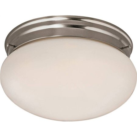 Boston Harbor Dimmable Round Ceiling Light Fixture, (2) 60/13 W Medium A19/Cfl Lamp, Brushed Nickel