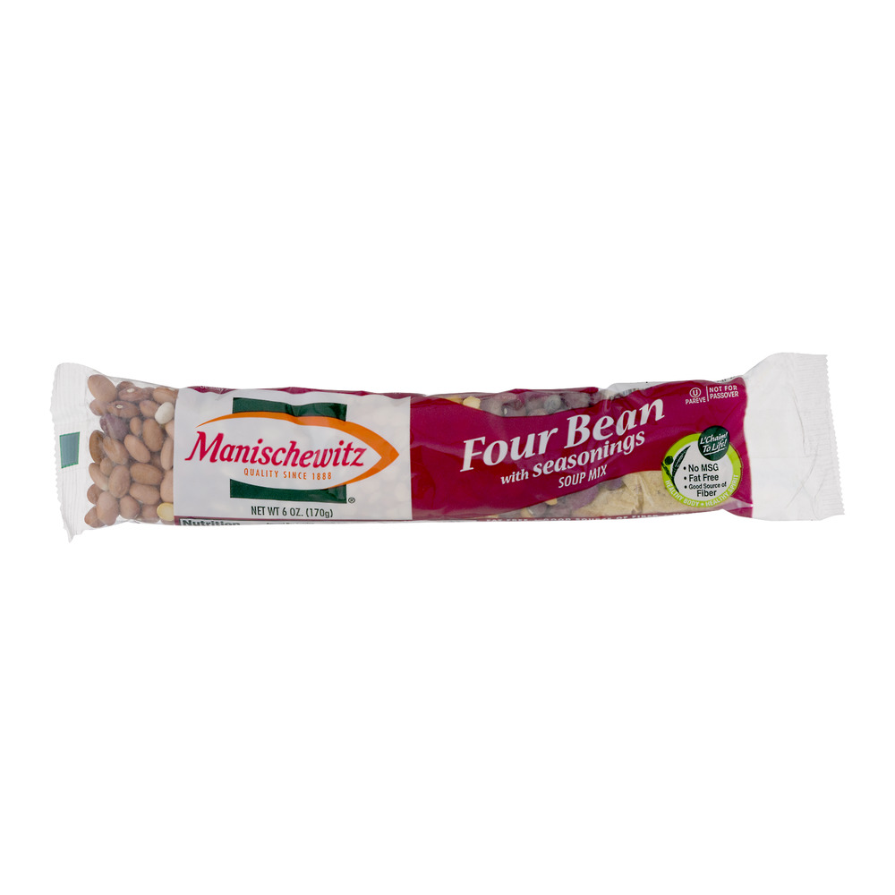 Manischewitz Four Bean with Seasonings Soup Mix, 6.0 OZ
