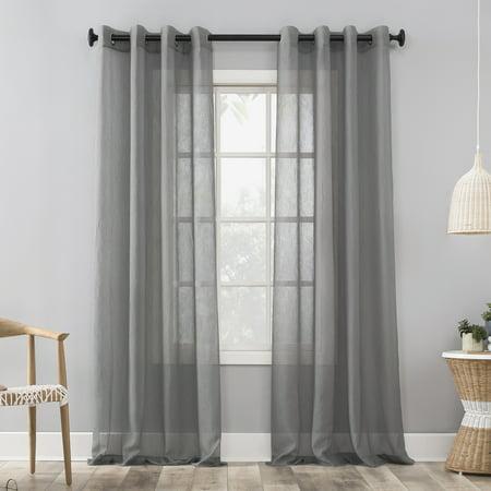 Mainstays Marjorie Crushed Sheer Voile Grommet Curtain
