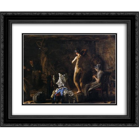 Thomas Eakins 2x Matted 24x20 Black Ornate Framed Art Print 'William Rush Carving His Allegorical Figure of the Schuykill River' ()