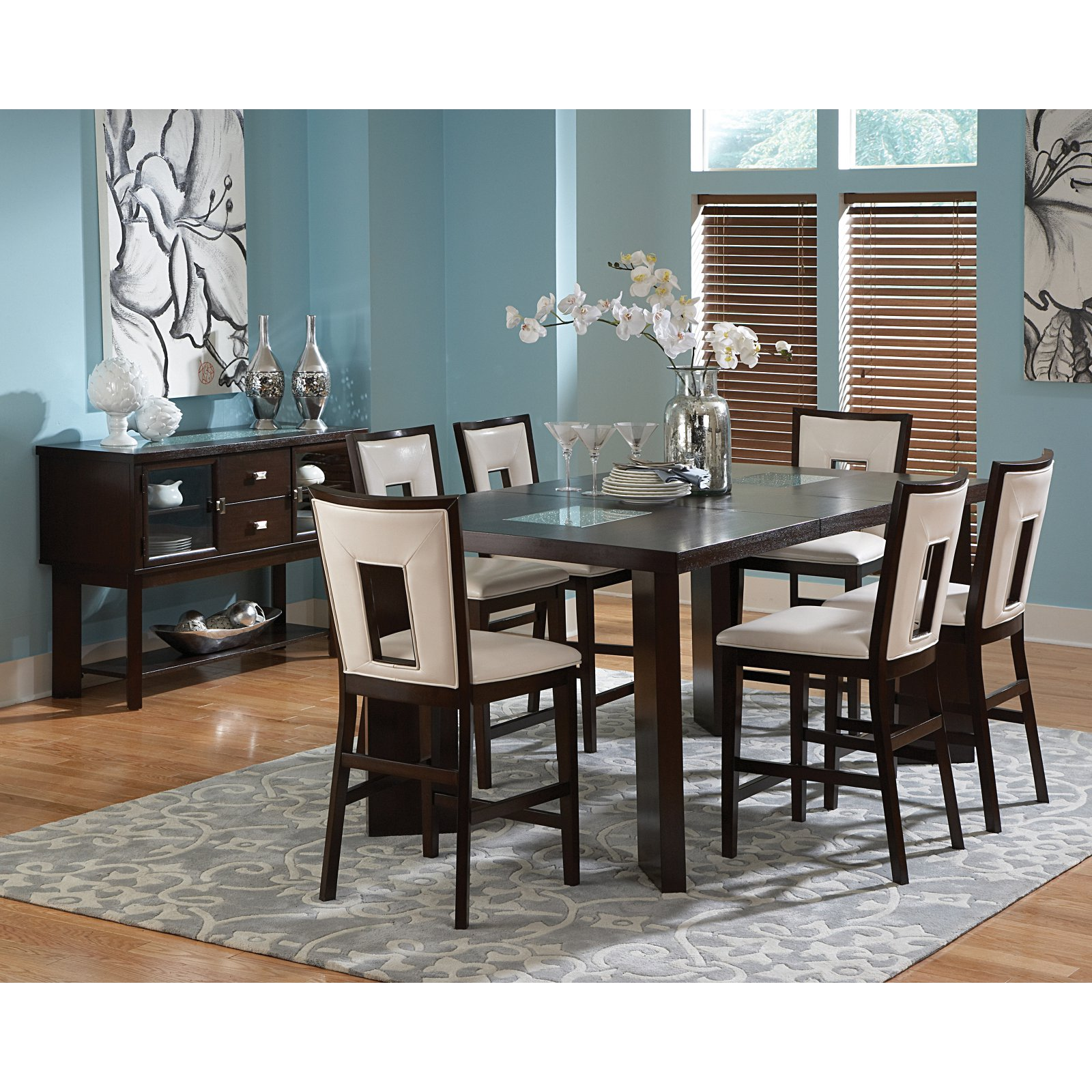 Steve Silver Delano Counter Height Dining Table - Espresso