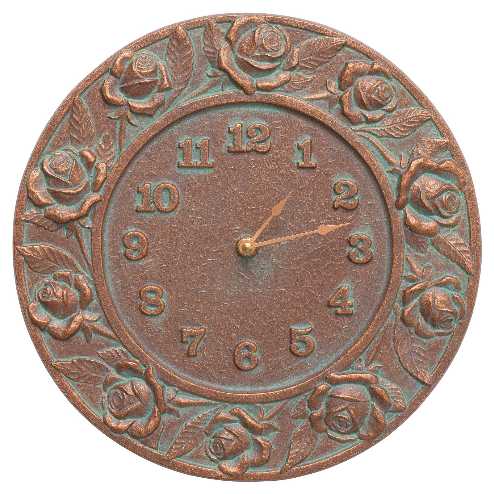Whitehall Products Rose 12-in. Indoor/Outdoor Wall Clock