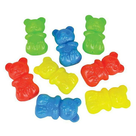 Blow Mold Gummy Bear Toy- 144 Pieces of Mini Plastic Teddy Bears- Assorted Neon Bear Sorter- Perfect for Nursery Counting Tool, Color-Matching Activities, Montessori Toys and DIY - Blow Molded Plastic Case