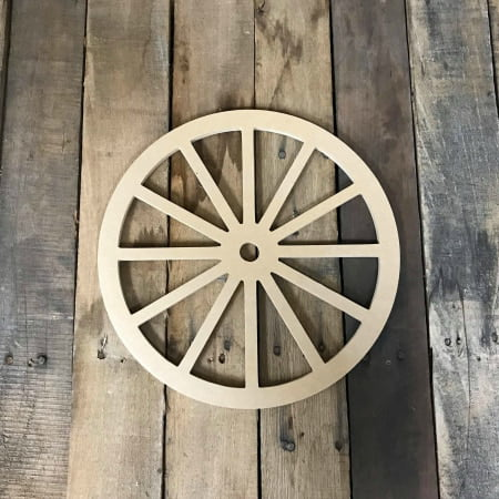 Wooden Wagon Wheel Shape, Unfinished Wood Craft, DIY 6'' Lot of 10 - Diy Wood Crafts