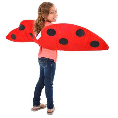 Child Costume Accessory Red Lady Bug Wings](Kids Lady Bug Costume)