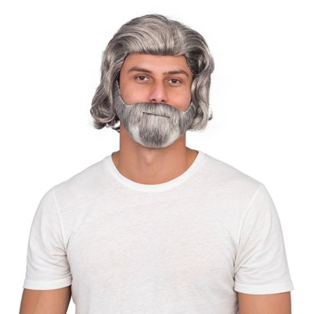 Luke Sky Deluxe Costume Accessory White Wig and Beard Set - White Wig For Kids