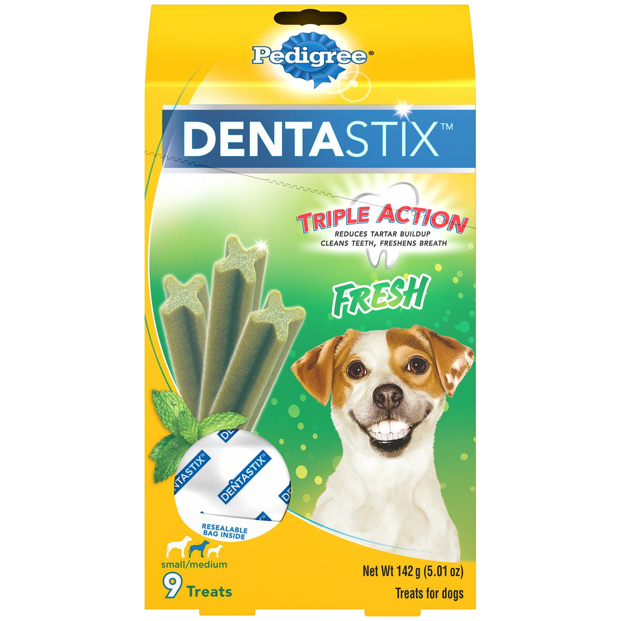 Pedigree Dentastix Small/Medium Fresh Dog Treats, 9-count
