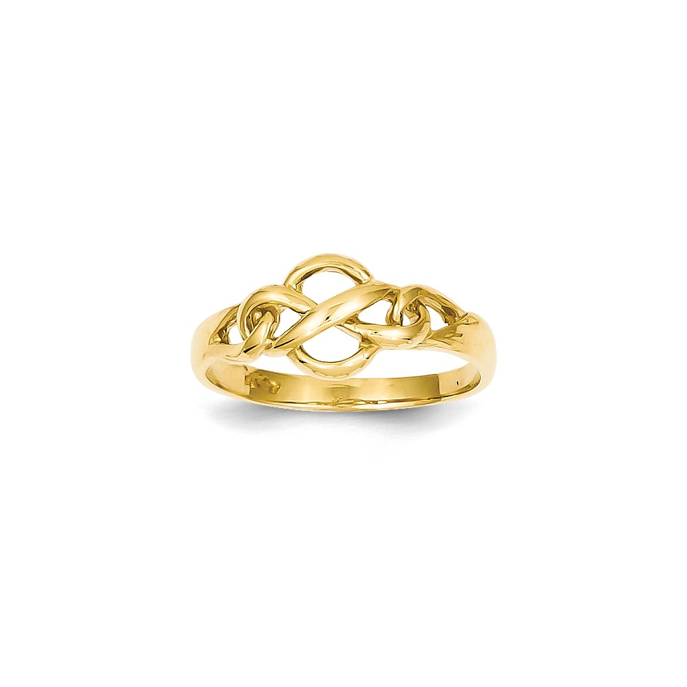 14k Yellow Gold Free Form Knot Ring