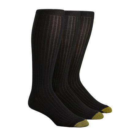 Gold Toe  Mercerized Cotton Over the Calf Dress Socks (Pack of 3) (Men's) Gold Toe Cotton Ankle Socks