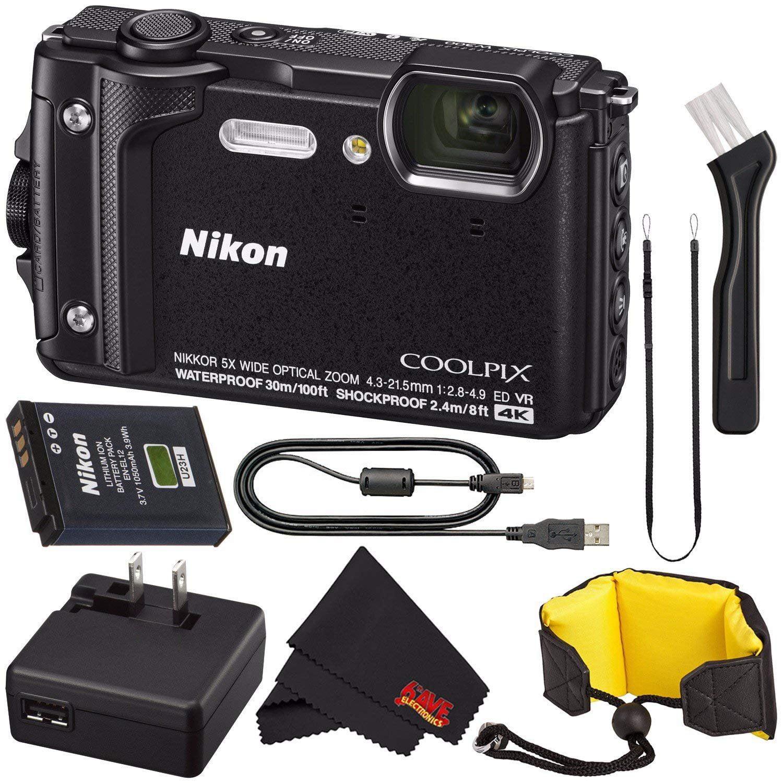 Microfiber Cloth Bundle: Nikon COOLPIX W300 Digital Camera (Black) 26523