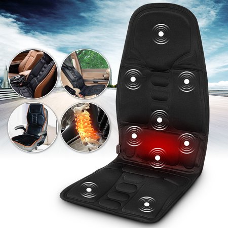 Vibration Car Back Massager, Back Massage Cushion with Heat, 10 Vibrating Motors & Heating Therapy to Release Stress and Fatigue, for Car, Home and (10 Motor Massage Mat)