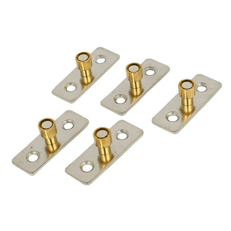 Unique Bargains 5pcs Metal 10mm Diameter Wooden or Sliding Door Guide Locator Stopper