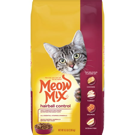 Meow Mix Hairball Control Cat Food, 6.3-Pound