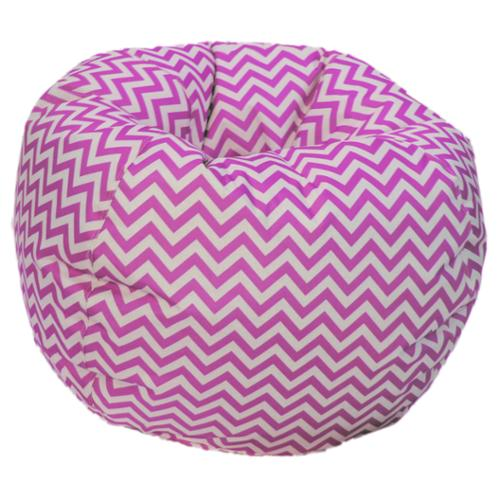 Pink/ White Chevron Bean Bag Chair 35 inch