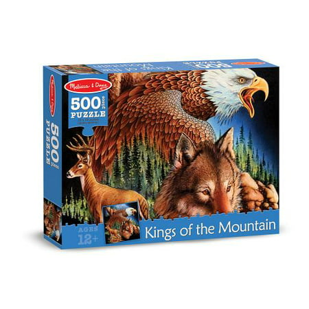 - Melissa & Doug 500-Piece King of the Mountain Wild Forest Animals Jigsaw Puzzle