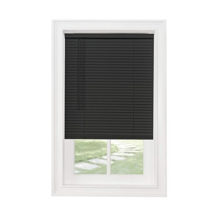 Black Mini Blinds Walmart.Cordless Vinyl Mini Blind Black 23 X 64