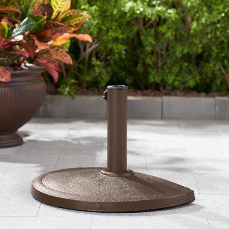 Mainstays Bronze Half-round Outdoor Umbrella Base