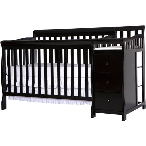 Dream On Me, 5-in-1 Brody Convertible Crib With Changer, Black